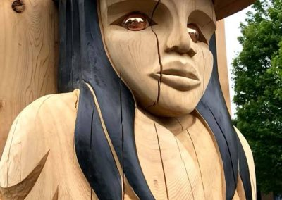 2018, Vancouver School Board commissioned, 20' Female Welcoming House Post